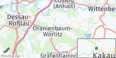 Google Map of Kakau bei Dessau