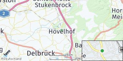 Google Map of Hövelhof