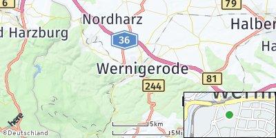 Google Map of Wernigerode
