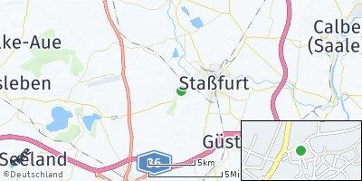 Google Map of Hecklingen bei Staßfurt