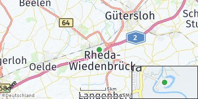 Google Map of Rheda-Wiedenbrück