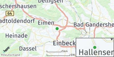 Google Map of Hallensen