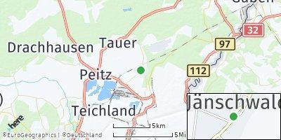Google Map of Jänschwalde