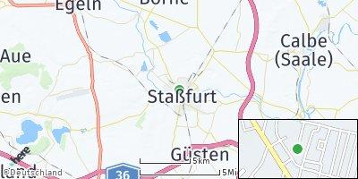 Google Map of Staßfurt