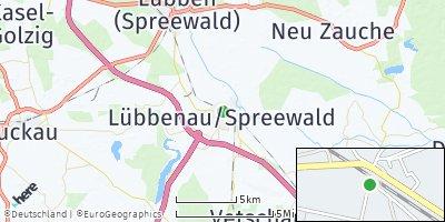 Google Map of Lübbenau / Spreewald