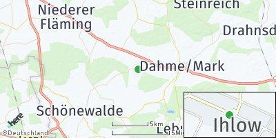Google Map of Ihlow bei Jüterbog