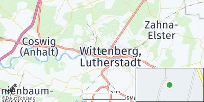 Google Map of Lutherstadt Wittenberg