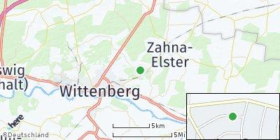 Google Map of Abtsdorf bei Wittenberg