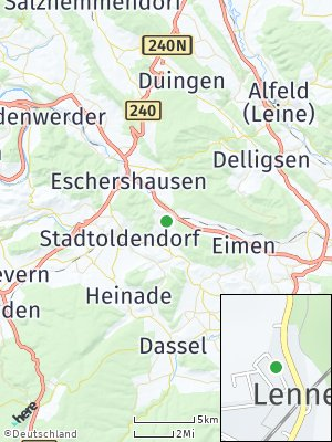 Here Map of Lenne am Solling