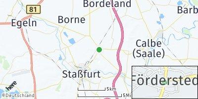 Google Map of Förderstedt