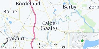 Google Map of Calbe