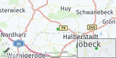 Google Map of Schachdorf Ströbeck