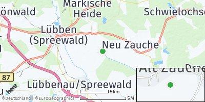 Google Map of Alt Zauche-Wußwerk