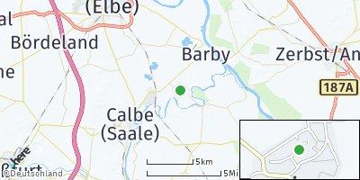 Google Map of Tornitz bei Schönebeck