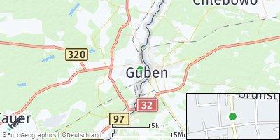 Google Map of Guben