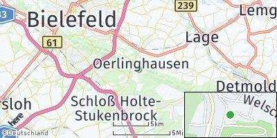 Google Map of Oerlinghausen