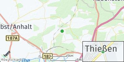 Google Map of Thießen bei Dessau