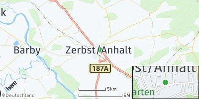 Google Map of Zerbst/Anhalt