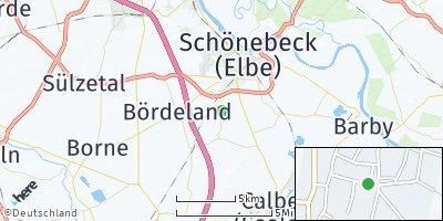 Google Map of Eggersdorf bei Schönebeck