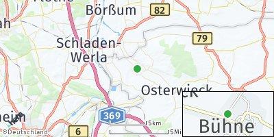 Google Map of Bühne bei Halberstadt