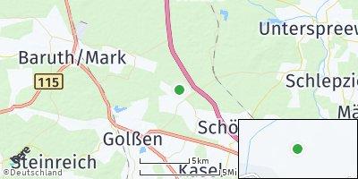 Google Map of Rietzneuendorf-Staakow
