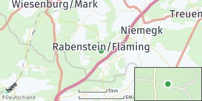 Google Map of Rabenstein / Fläming