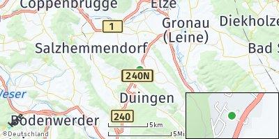 Google Map of Marienhagen bei Alfeld