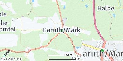 Google Map of Baruth / Mark