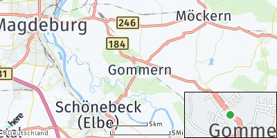 Google Map of Gommern