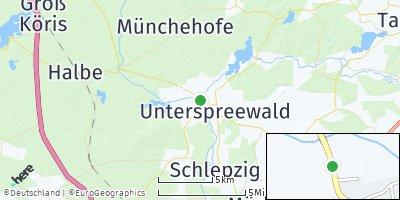 Google Map of Unterspreewald