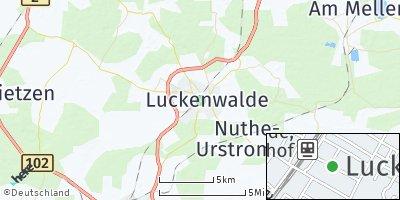 Google Map of Luckenwalde