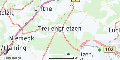 Google Map of Treuenbrietzen