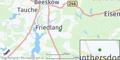 Google Map of Friedland
