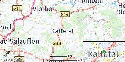 Google Map of Kalletal