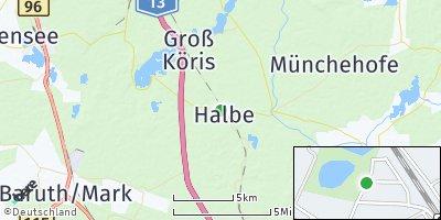 Google Map of Halbe
