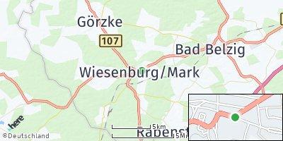Google Map of Wiesenburg / Mark
