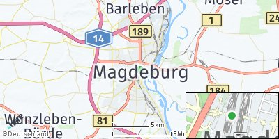 Google Map of Magdeburg