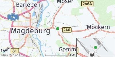 Google Map of Königsborn bei Magdeburg