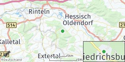 Google Map of Friedrichsburg