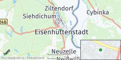 Google Map of Eisenhüttenstadt