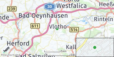Google Map of Vlotho