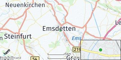 Google Map of Emsdetten