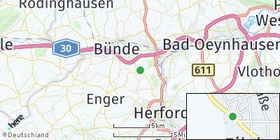 Google Map of Hiddenhausen