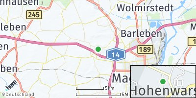 Google Map of Hohenwarsleben