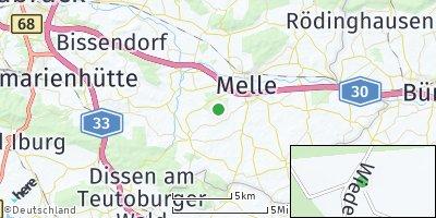 Google Map of Laer bei Melle