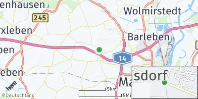 Google Map of Hermsdorf bei Wolmirstedt