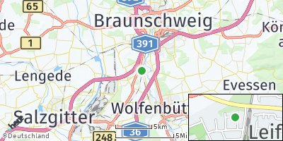 Google Map of Leiferde bei Braunschweig