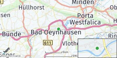 Google Map of Bad Oeynhausen