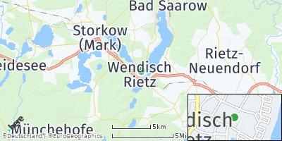 Google Map of Wendisch Rietz