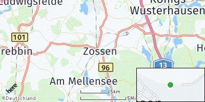 Google Map of Zossen bei Berlin